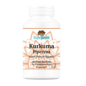 KURKUMA Piperyna 80 % kurkuminoidów Planet Health