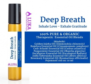 Deep Breath - Inhale Love - Exhale Gratitude - roll-on  LUKA aromatherapy