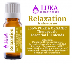 Relaxation - is who you are -  LUKA aromatherapy
