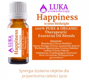 Happines - is your birthright - LUKA aromatherapy